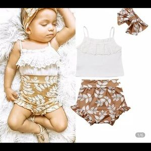 Other - Ruffle bummie set from my boutique